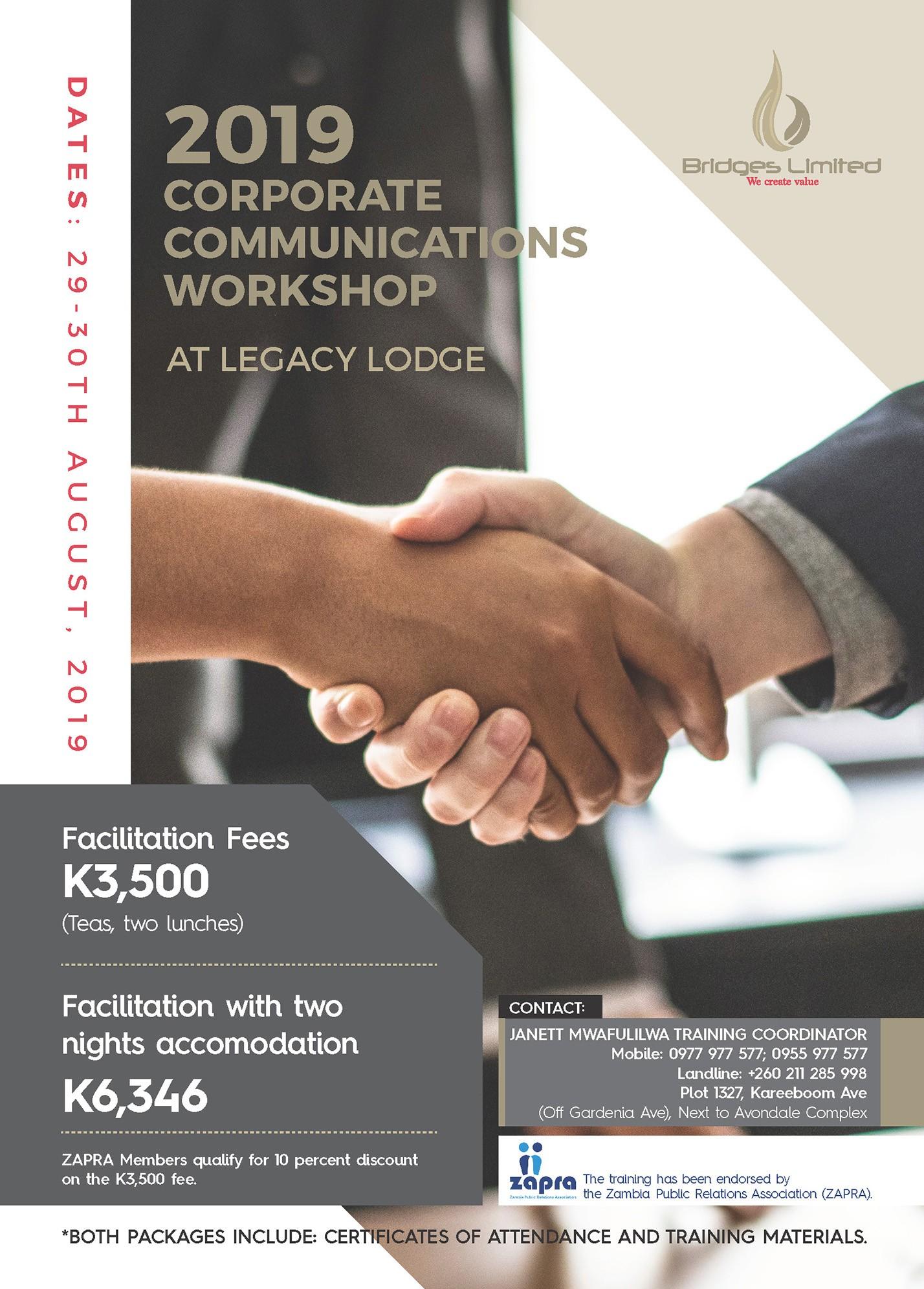 Bridges 2019 Corporate Communications Workshop