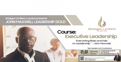 Bridges Ltd Lusaka presents 'John Maxwell Leadership Gold' - 21st & 22nd March '18 at Cresta Golf View
